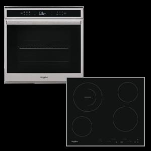 Whirlpool W6 OM4 4S1 P + AKT 8601 IX Φούρνος άνω Πάγκου και Κεραμικές Εστίες