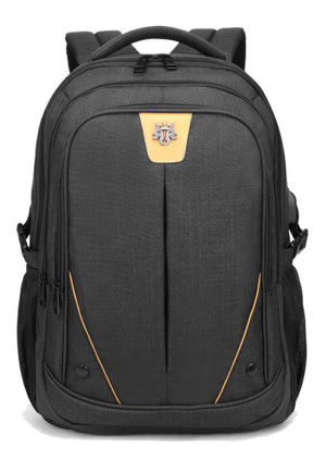 ARCTIC HUNTER τσάντα πλάτης GB00369-BK με θήκη laptop, αδιάβροχη, μαύρη