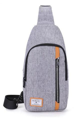 ARCTIC HUNTER Τσάντα Crossbody GXB00106-GY, αδιάβροχη, γκρι