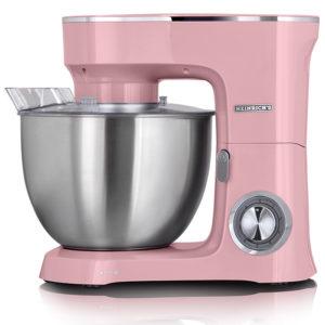 Heinrich's KM 8078 Pink Κουζινομηχανή 1400W με Ανοξείδωτο Κάδο 8lt