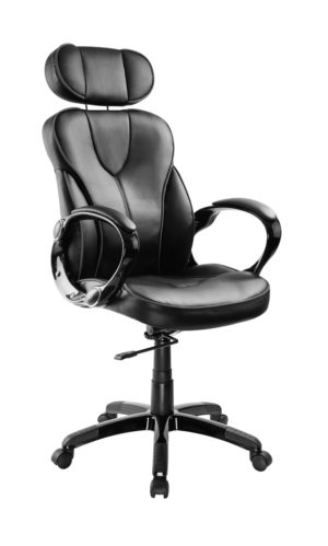 POWERTECH Καρέκλα γραφείου PT-725, ρυθμιζόμενη, με υποβραχιόνια, μαύρη