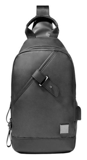 ARCTIC HUNTER Τσάντα Crossbody XB00089-GY, USB, αδιάβροχη, γκρι