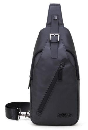 ARCTIC HUNTER τσάντα Crossbody XB13006-BK, αδιάβροχη, μαύρη
