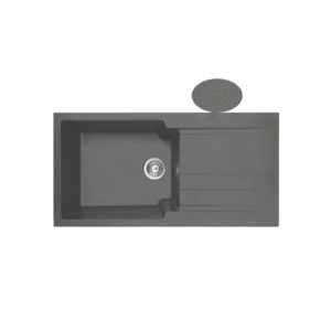 Επικαθήμενος Νεροχύτης Duralit KS105 Gris Platinum
