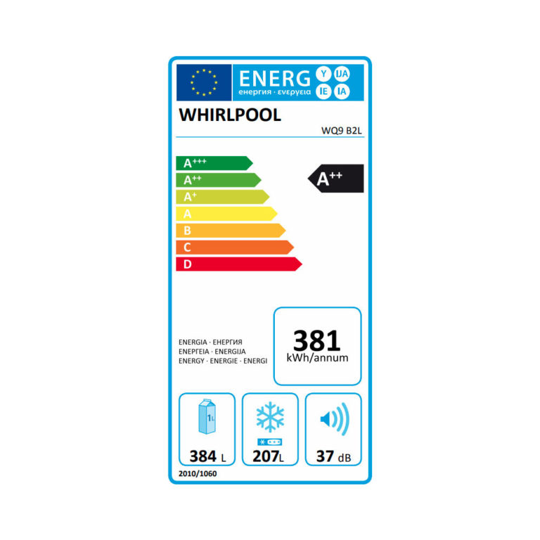 Ψυγείο Ντουλάπα Whirlpool WQ9 B2L
