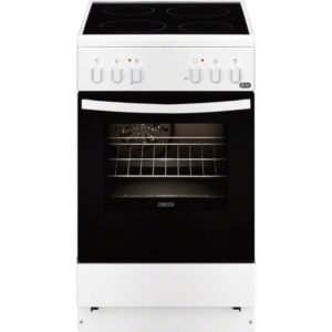 Zanussi ZCV550G1WA Κουζίνα 54lt με Εστίες Κεραμικές