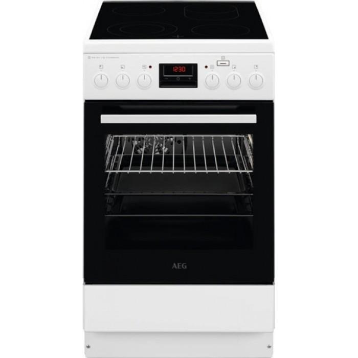 AEG CCB56481BW Κουζίνα 58lt με Εστίες Κεραμικές