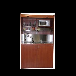 Silver ΚΣ125 Πολυκουζινάκι Κερασί χωρίς Ψυγείο με Αριστερή Γούρνα 125x65x209cm