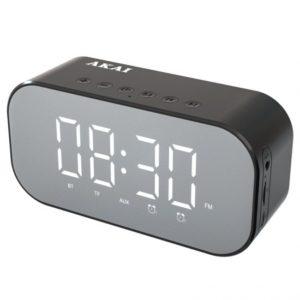 Akai ABTS-C5 Μαύρο Ψηφιακό Ρολόι Επιτραπέζιο με Ξυπνητήρι